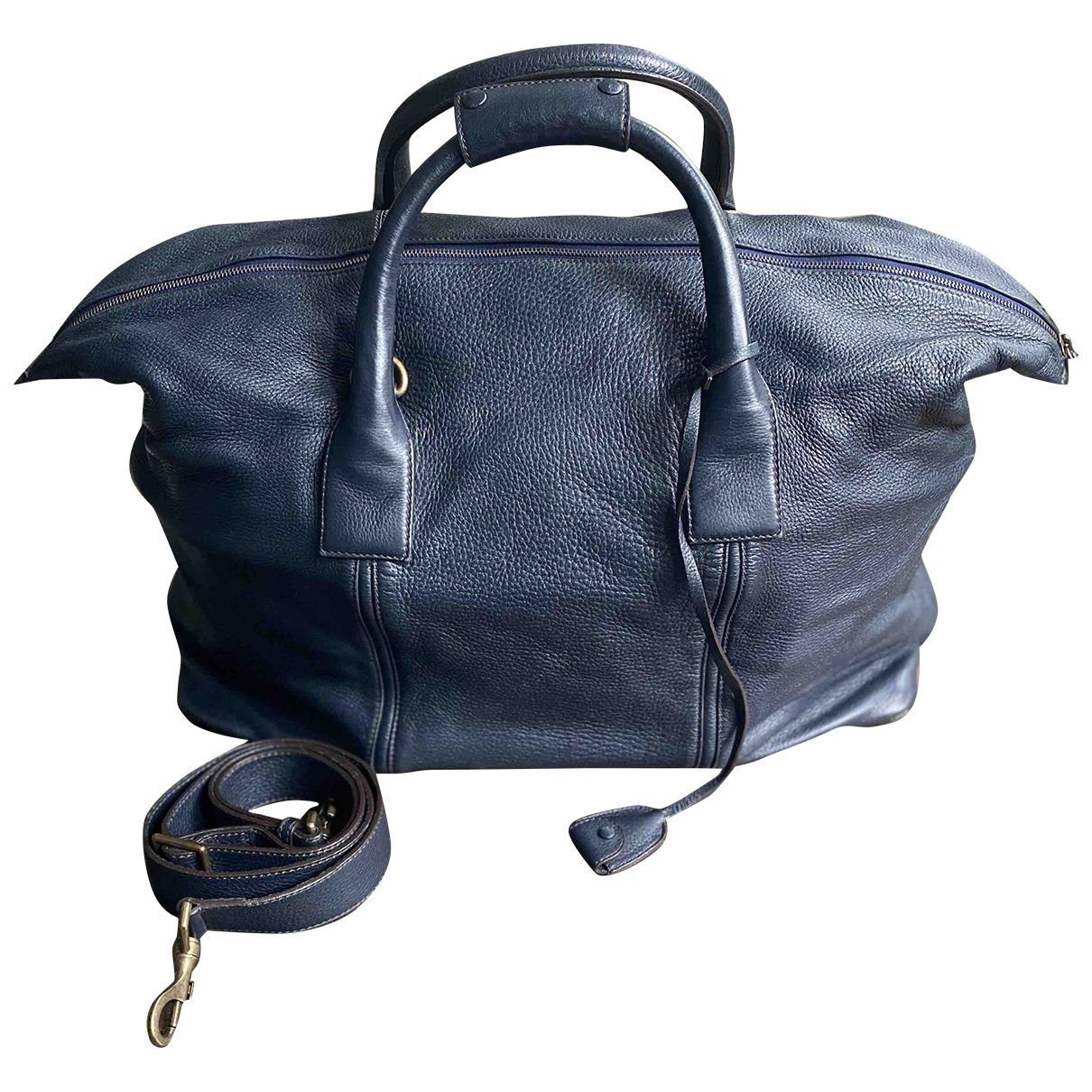 Malo \N Blue Leather bag for Men \N