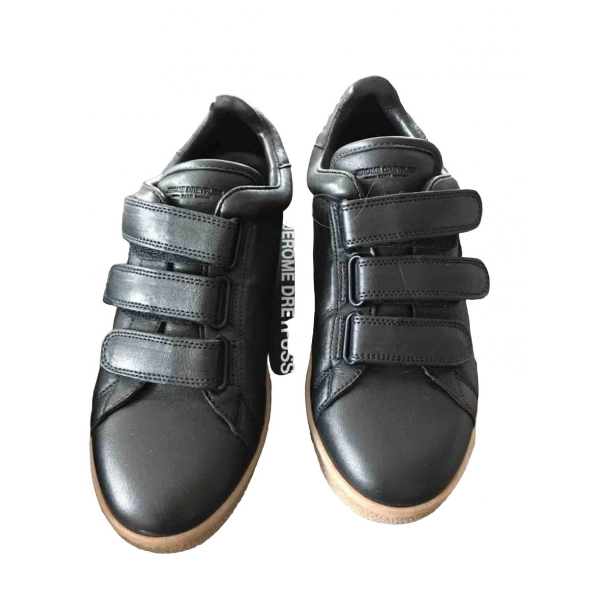 Jerome Dreyfuss \N Black Leather Trainers for Women 38 EU