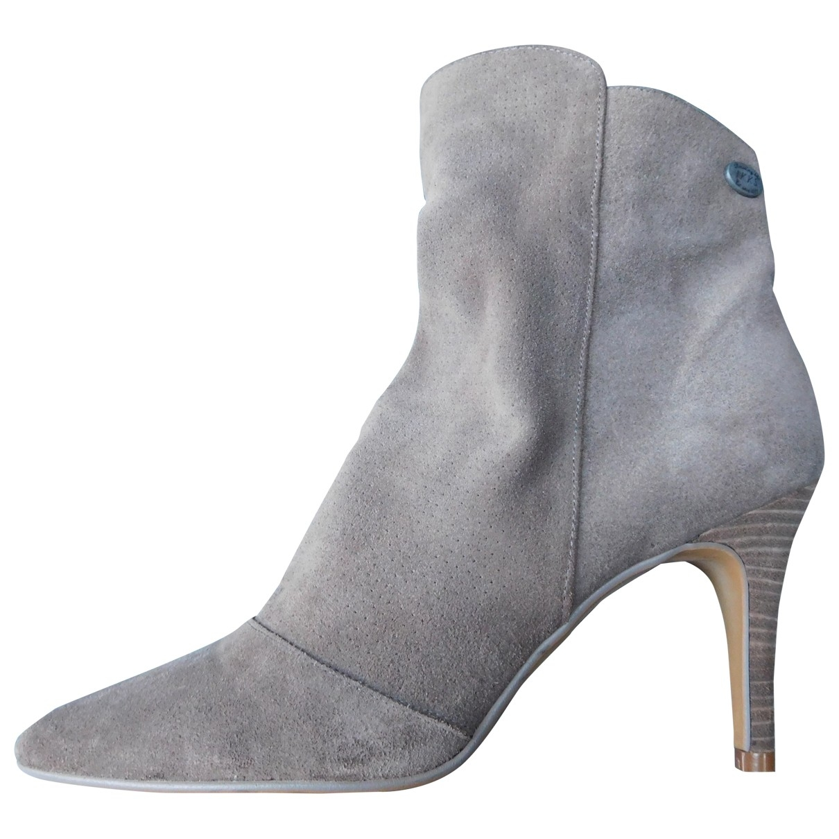 Ikks - Boots   pour femme en suede - gris