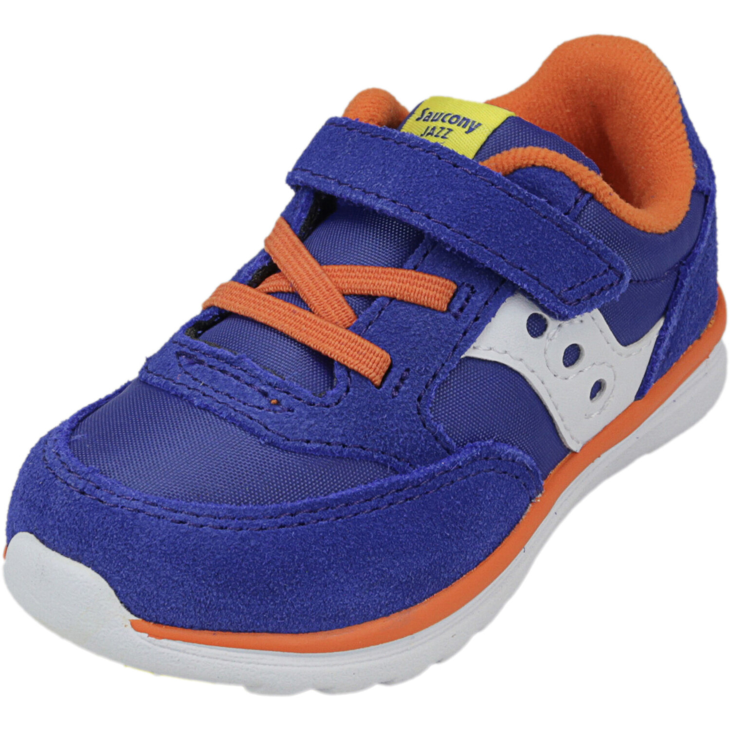 Saucony Boy's Jazz Lite Blue / Multi Ankle-High Suede Sneaker - 6M