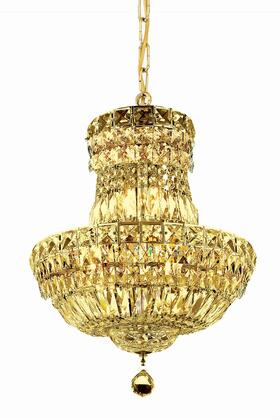 V2528D14G/SS 2528 Tranquil Collection Pendant Ceiling Light D:14In H:19In Lt:6 Gold Finish (Swarovski   Elements