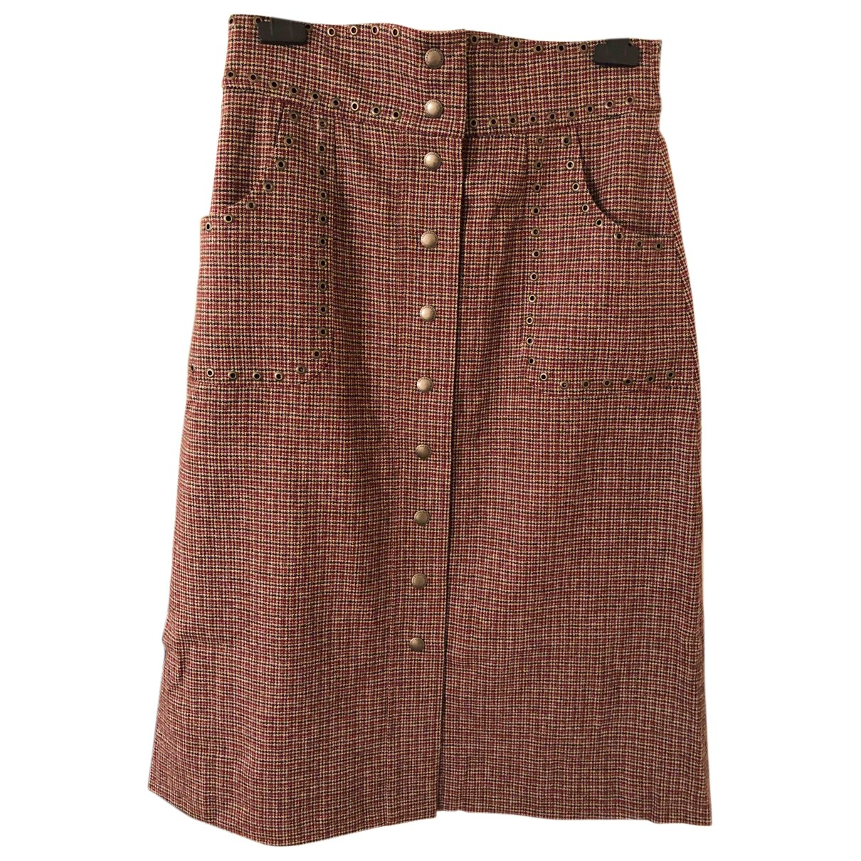 Red Valentino Garavani N Burgundy Wool skirt for Women 46 IT