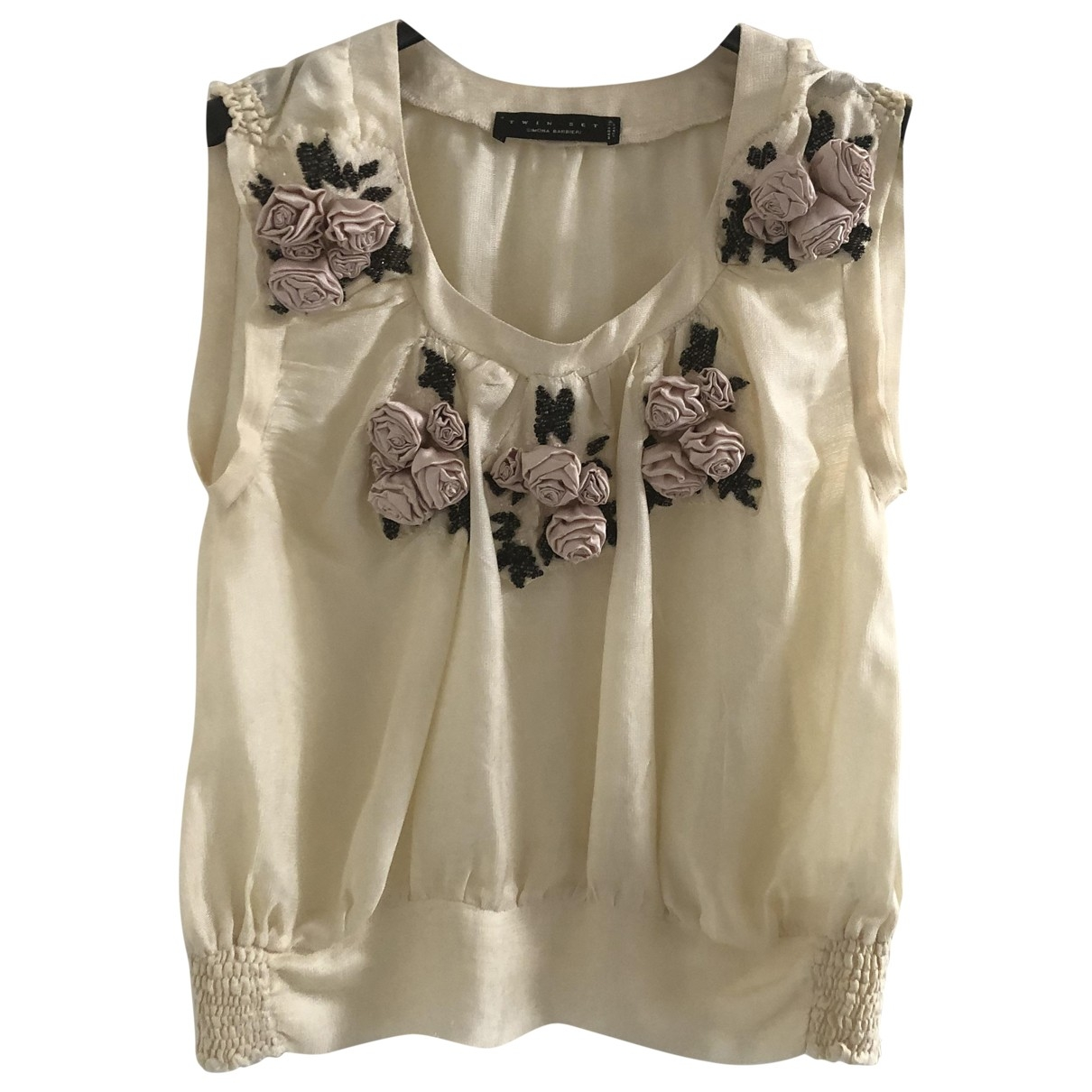 Twin Set \N Beige Silk  top for Women 42 IT