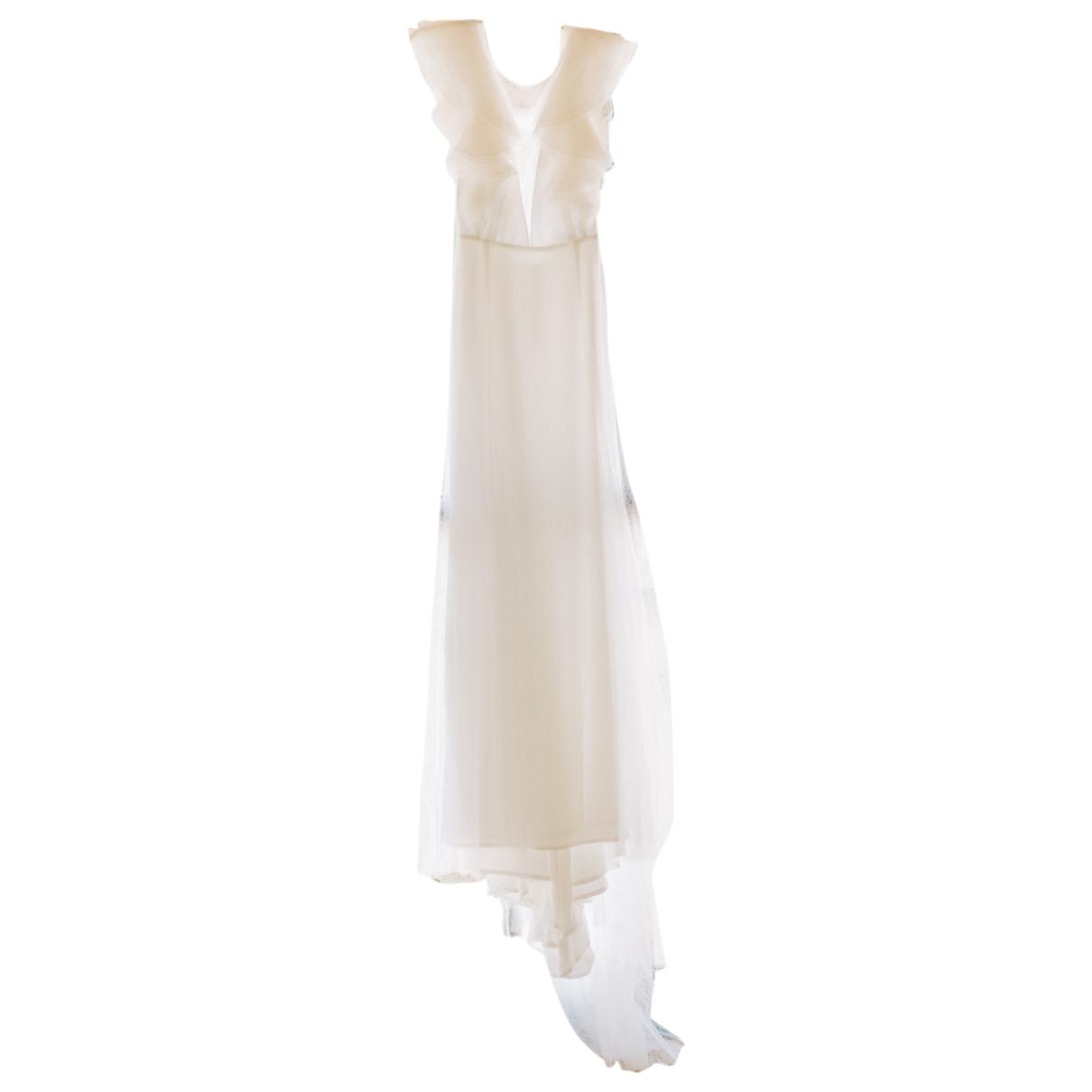 Rime Arodaky - Robe   pour femme en soie - blanc