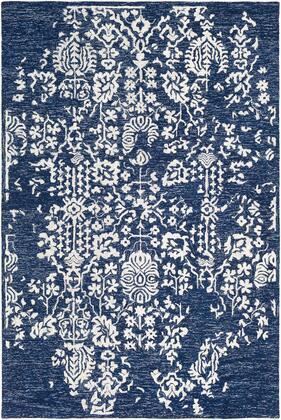Granada GND-2311 5 x 76 Rectangle Traditional Rug in Dark Blue  Denim