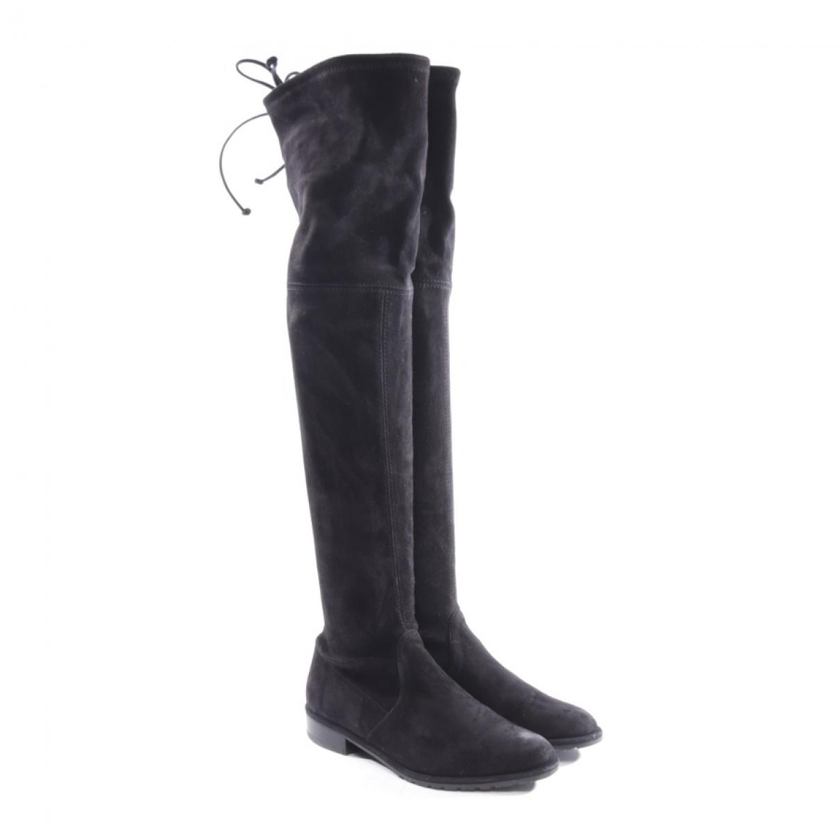 Stuart Weitzman \N Black Suede Boots for Women 35.5 EU