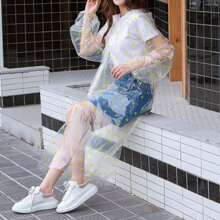 1 Stueck transparenter Regenmantel mit zufaelligem Muster