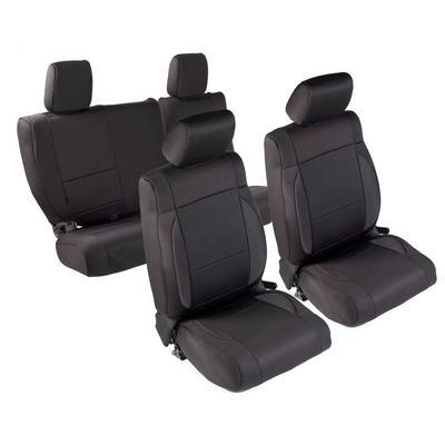 Smittybilt Neoprene Front and Rear Seat Cover Kit (Black/Black) - 471701