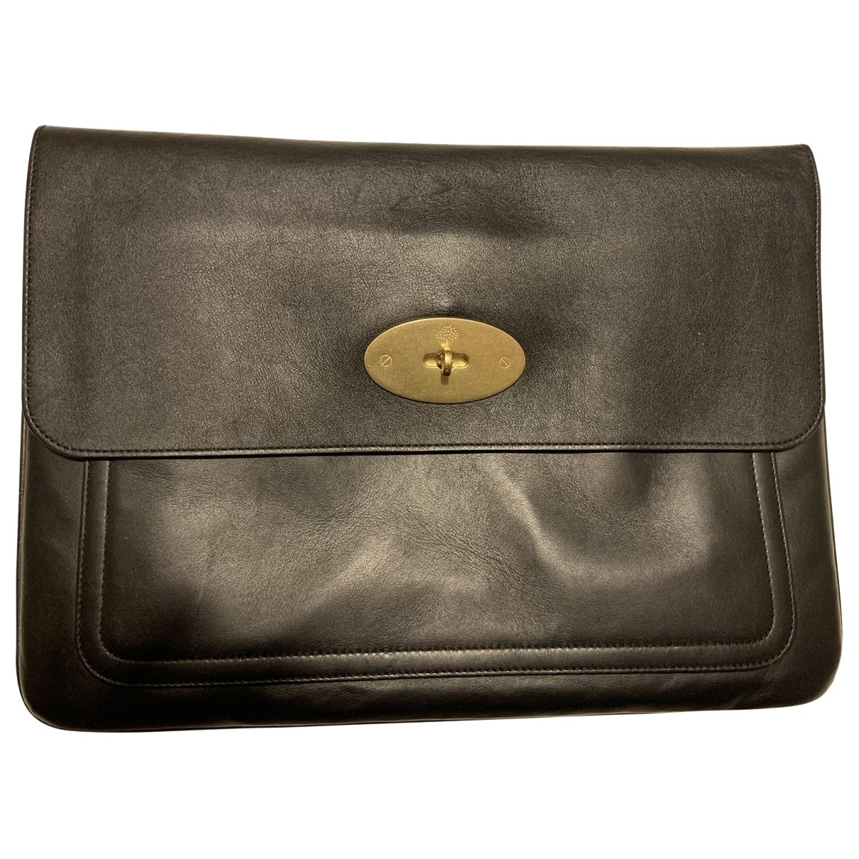 Mulberry \N Black Leather Small bag, wallet & cases for Men \N