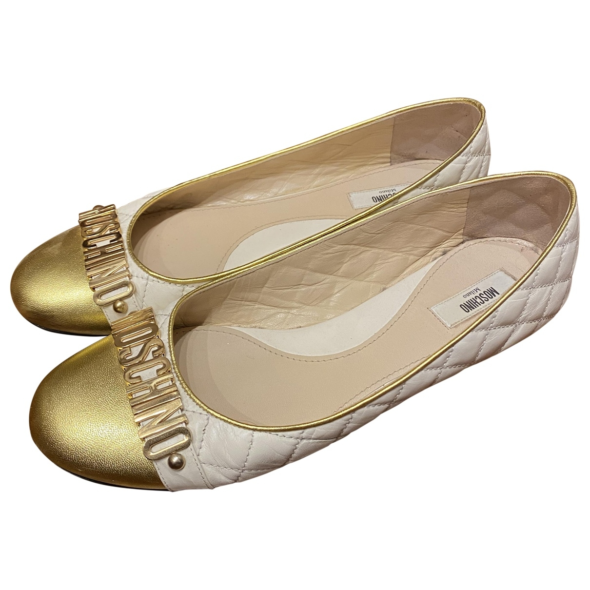 Moschino \N Ballerinas in  Gold Leder