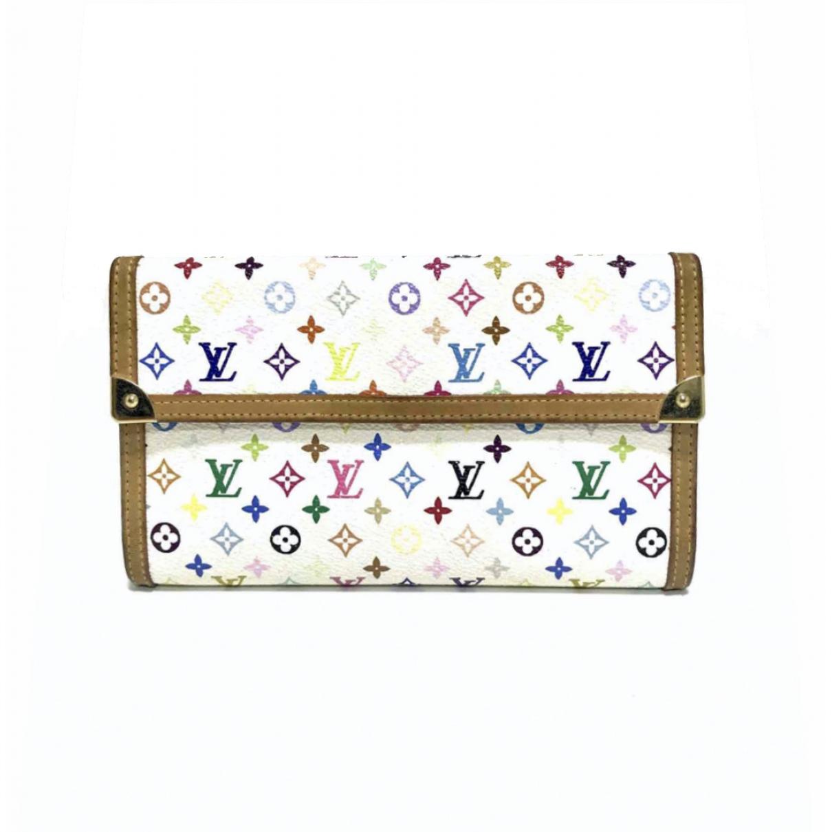 Louis Vuitton - Portefeuille   pour femme en toile - blanc