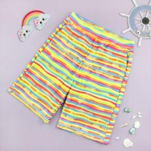 Boys Colorful Striped Board Shorts