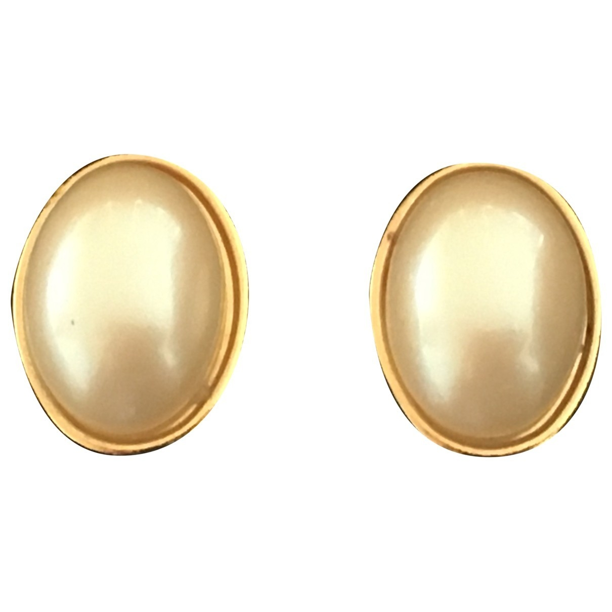 Non Signé / Unsigned Nacre White Metal Earrings for Women \N