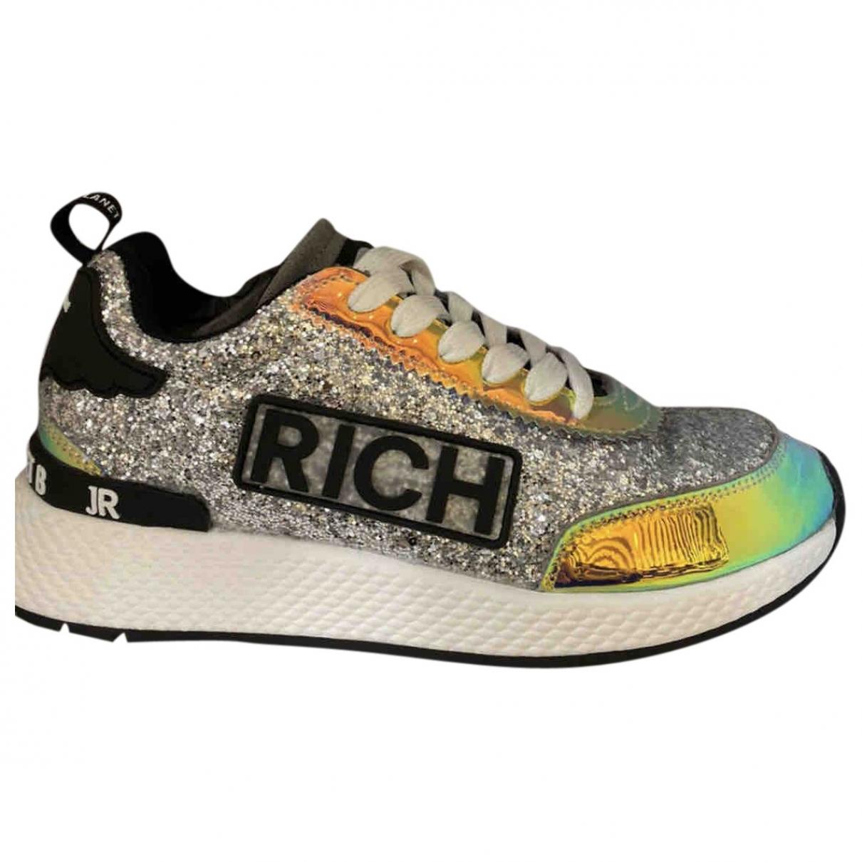 John Richmond \N Silver Glitter Trainers for Women 37 EU