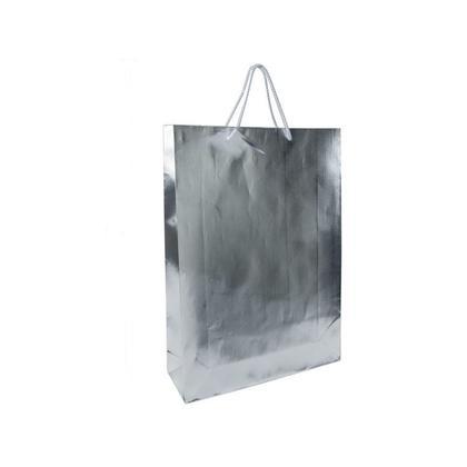 Cadeau Sac Présent Sac Metallic Sliver Jumbo Taille 18*13*4po, 1Pc