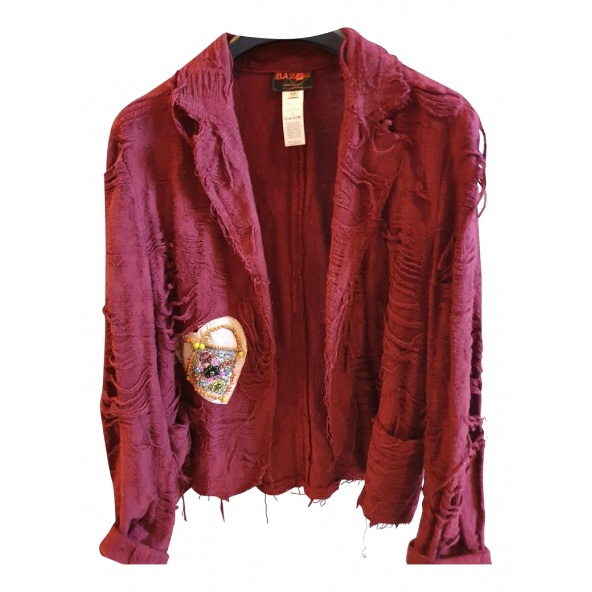 Christian Lacroix \N Burgundy Cotton jacket for Women 44 FR