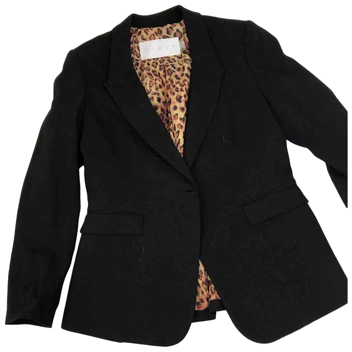 Non Signé / Unsigned \N Black Wool jacket for Women 12 UK