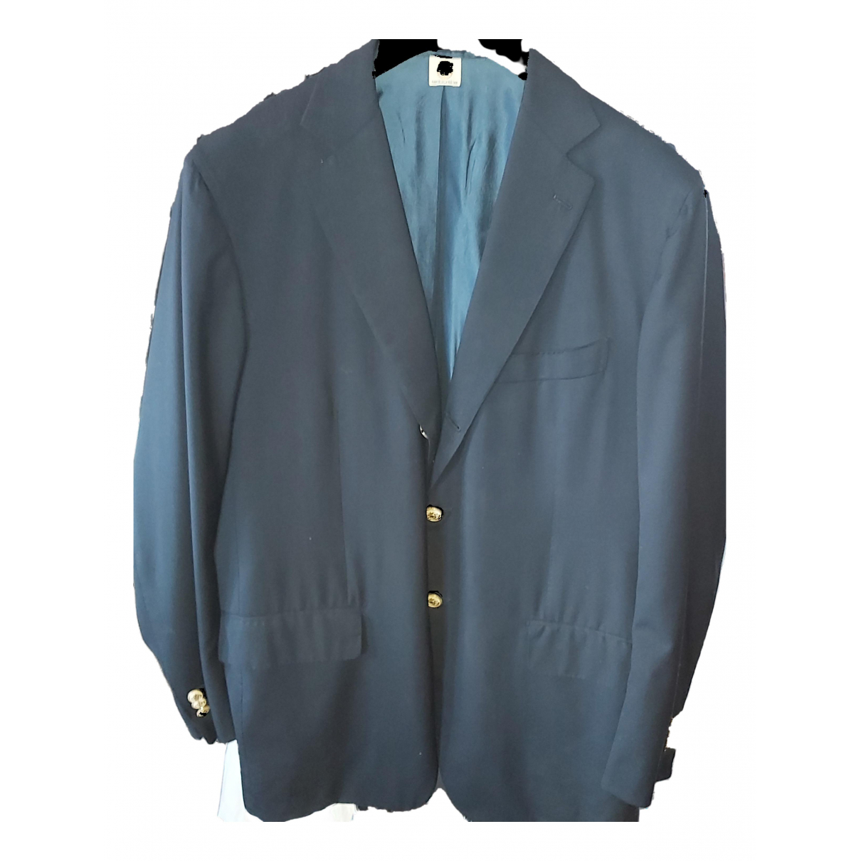 Borrelli - Vestes.Blousons   pour homme en laine - bleu