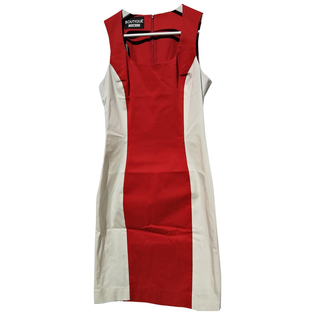 Moschino \N Kleid in  Rot Baumwolle