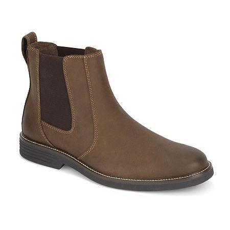 Dockers Mens Langford Chelsea Boots, 11 Medium, Brown