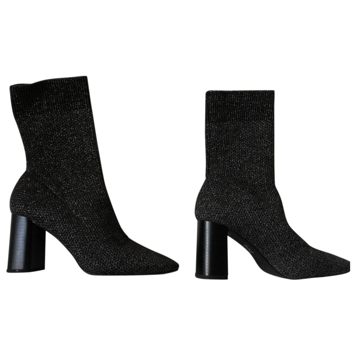 Zara - Boots   pour femme en toile - metallise