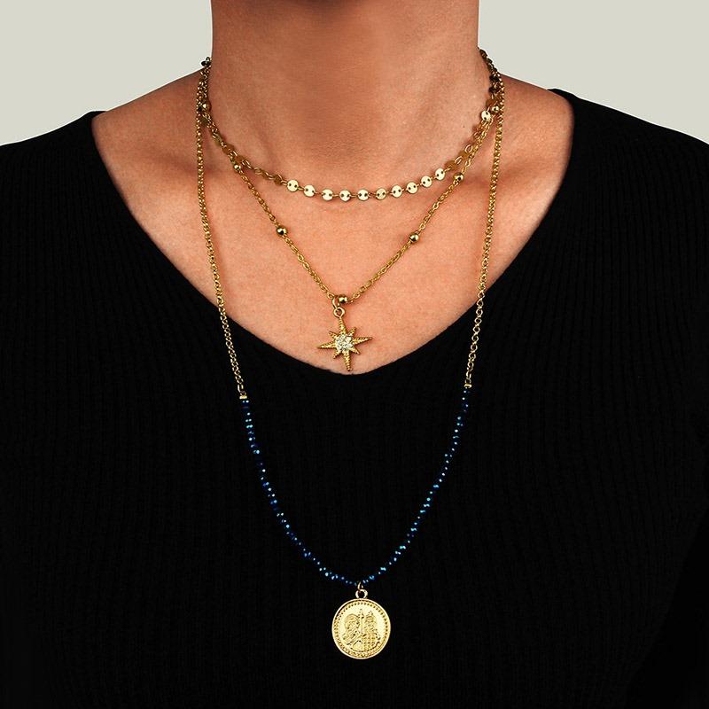 Ericdress Color Block Vintage Female Necklaces