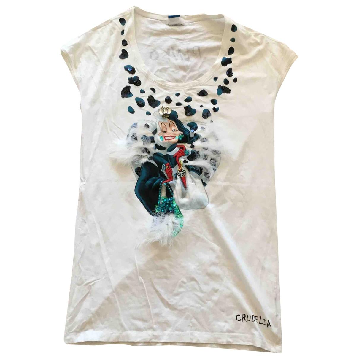 Pinko - Robe   pour femme en coton - blanc