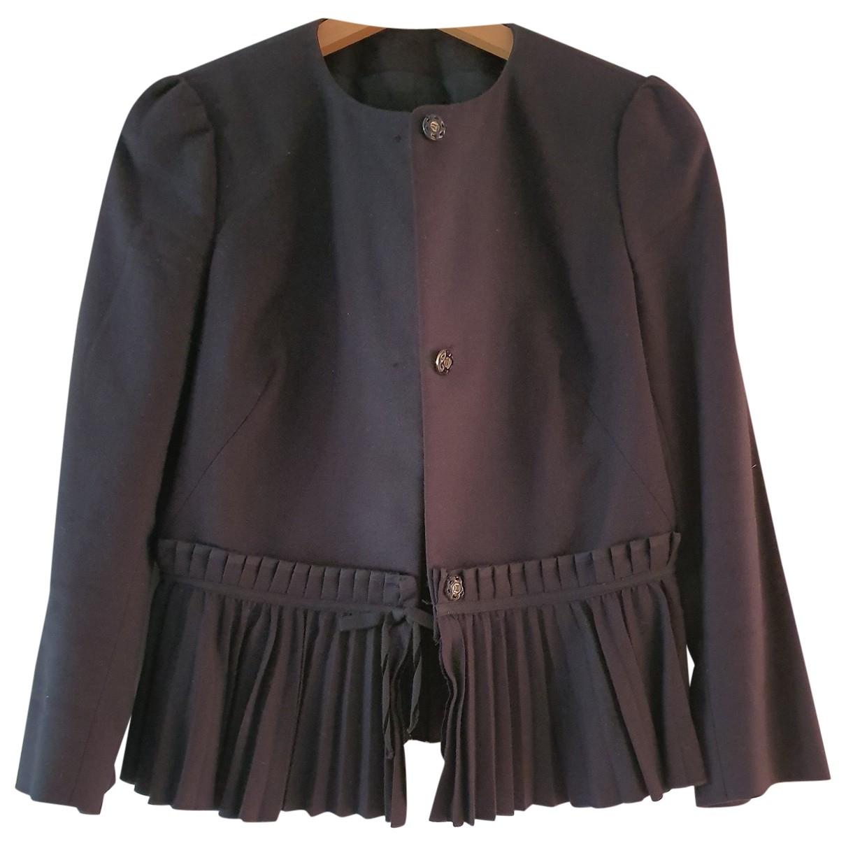 Red Valentino Garavani - Veste   pour femme en laine - noir