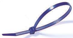 HellermannTyton , T80L Series Blue Nylon Cable Tie, 390mm x 4.7 mm