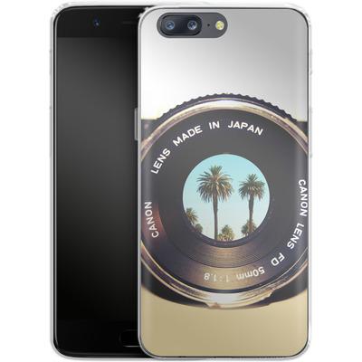 OnePlus 5 Silikon Handyhuelle - Focus On Palms von Bianca Green
