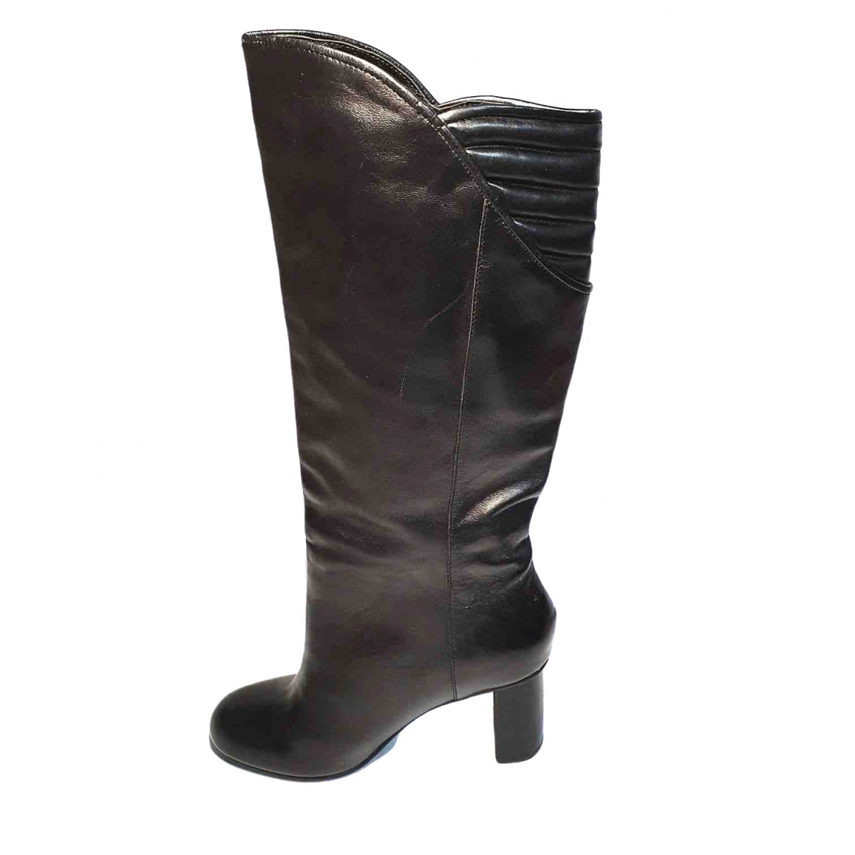 Armani Jeans \N Stiefel in  Schwarz Leder