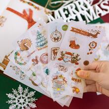 6sheets Christmas Pattern Random Sticker