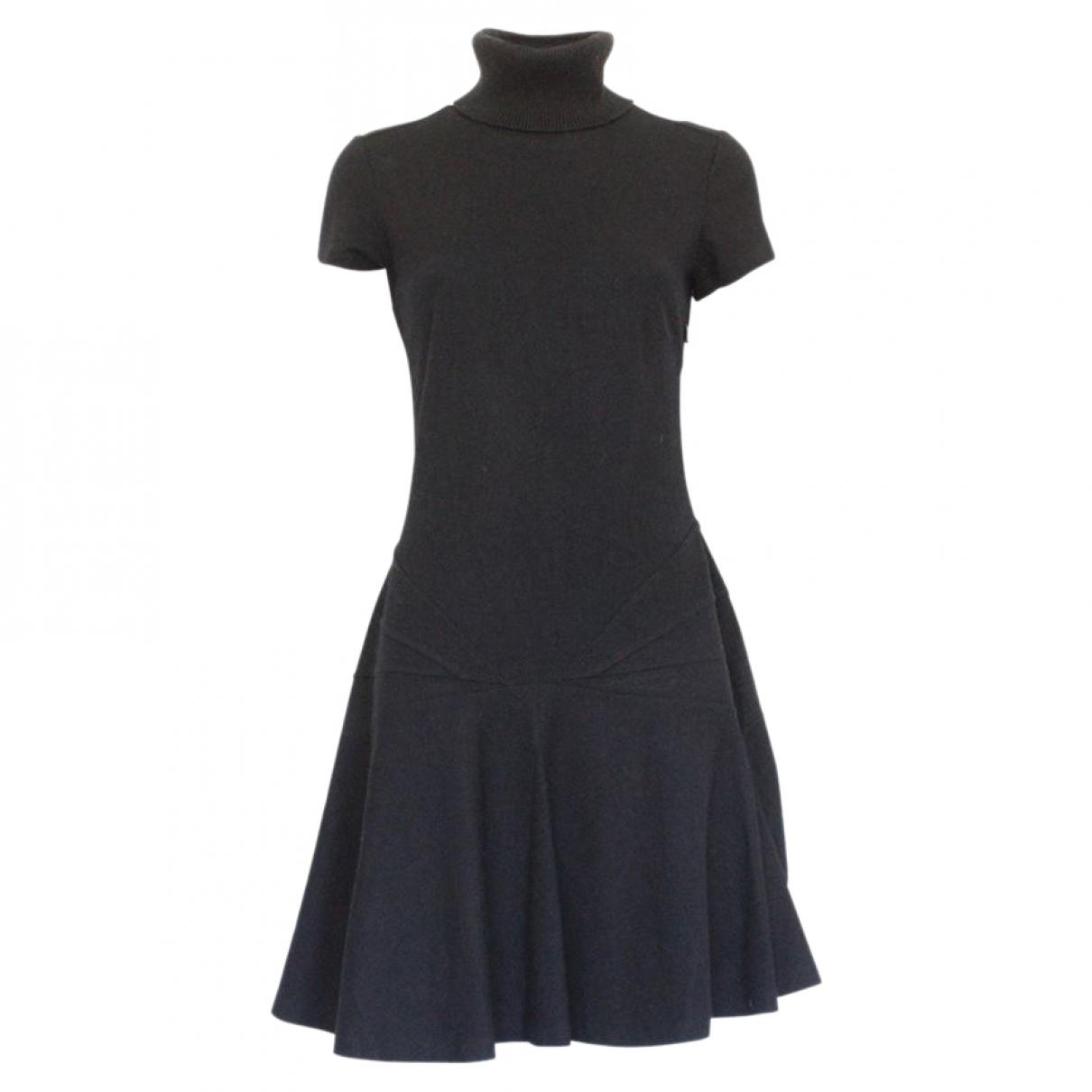 Ermanno Scervino \N Kleid in  Schwarz Wolle
