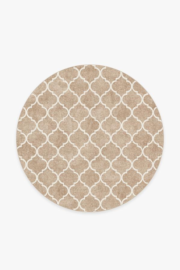 Washable Rug Cover & Pad | Terali Natural Clay Rug | Stain-Resistant | Ruggable | 6' Round
