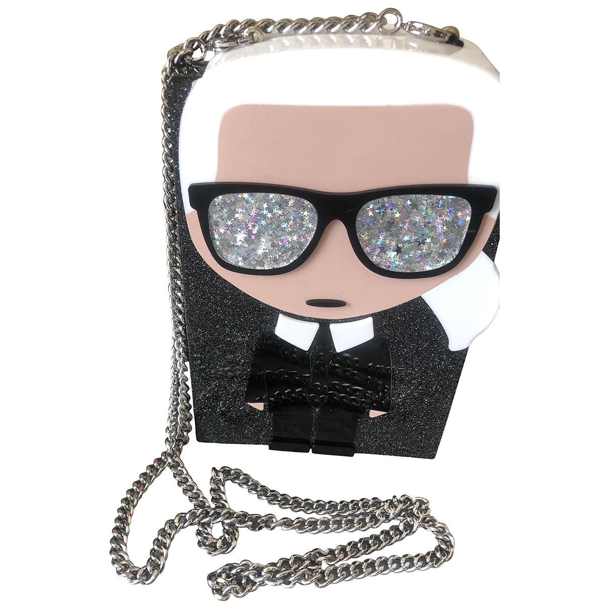 Bolsos clutch en Plastico Negro Karl Lagerfeld