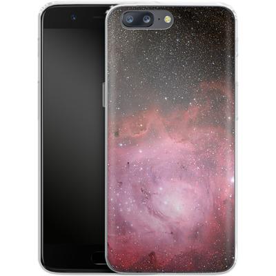 OnePlus 5 Silikon Handyhuelle - Pink Nebula von caseable Designs
