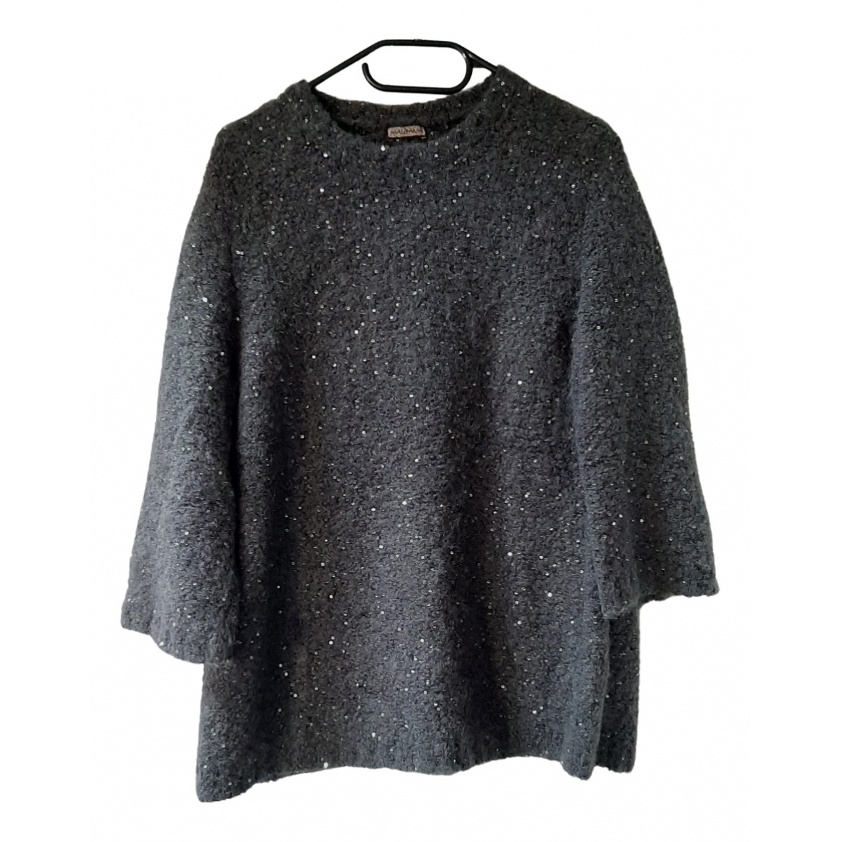 Maliparmi - Pull   pour femme en laine - anthracite