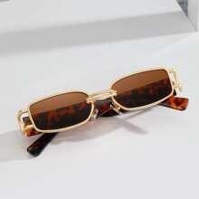 Gafas de sol de hombres de lentes tintadas de marco metalico