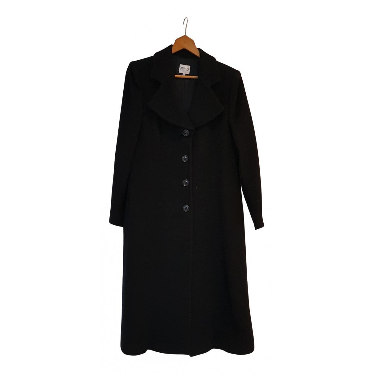 Armani Collezioni N Black Wool coat for Women 42 FR