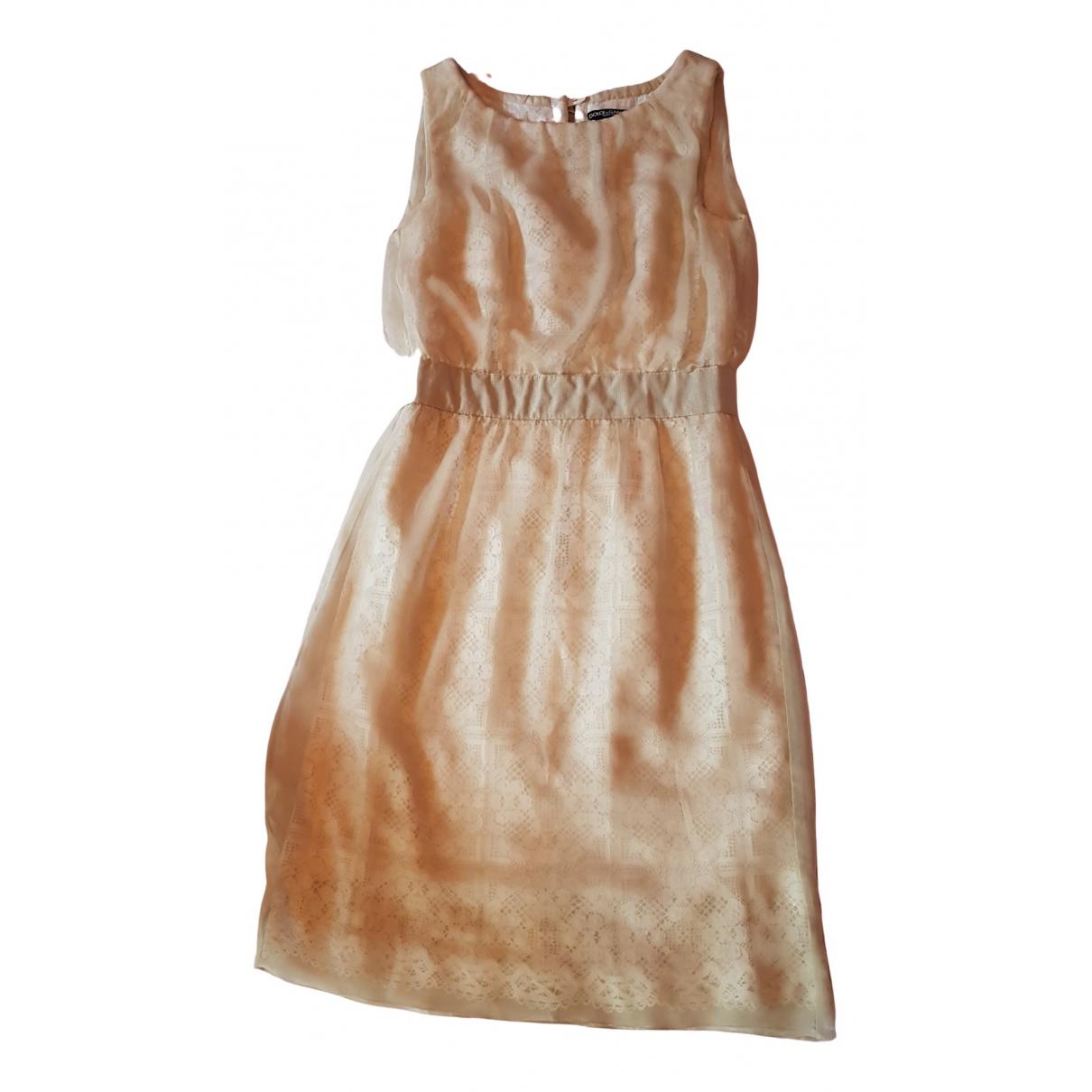 Dolce & Gabbana - Robe   pour femme en coton - beige