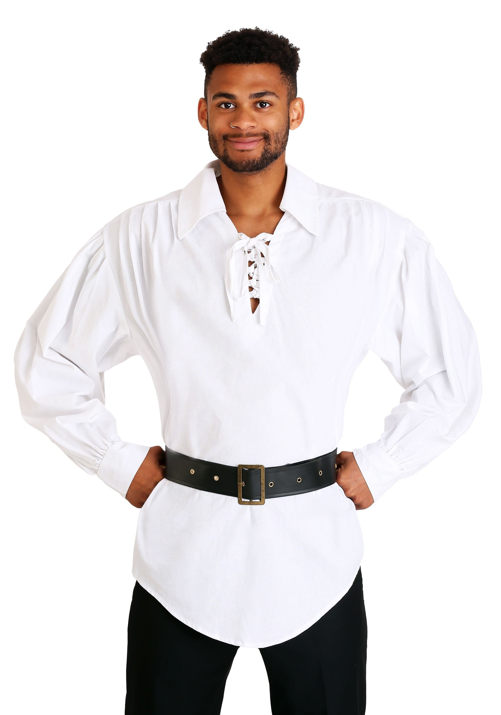 White Pirate Shirt for Men