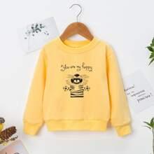 Sweatshirt mit Tiger und Buchstaben Grafik