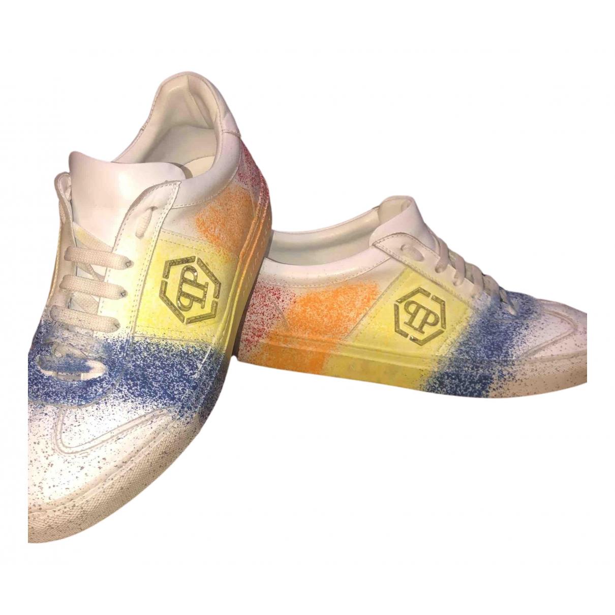 Philipp Plein Luxury Sneakers in  Bunt Lackleder