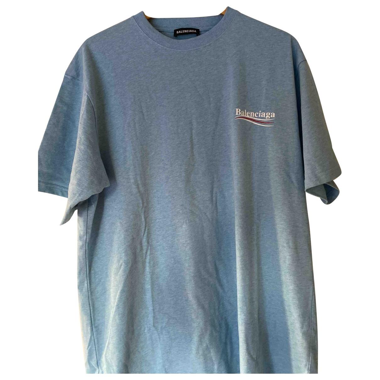 Balenciaga \N Blue Cotton T-shirts for Men S International