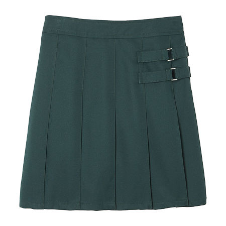French Toast Little & Big Girls Adjustable Waist Scooter Skirt, 20.5 Plus , Green