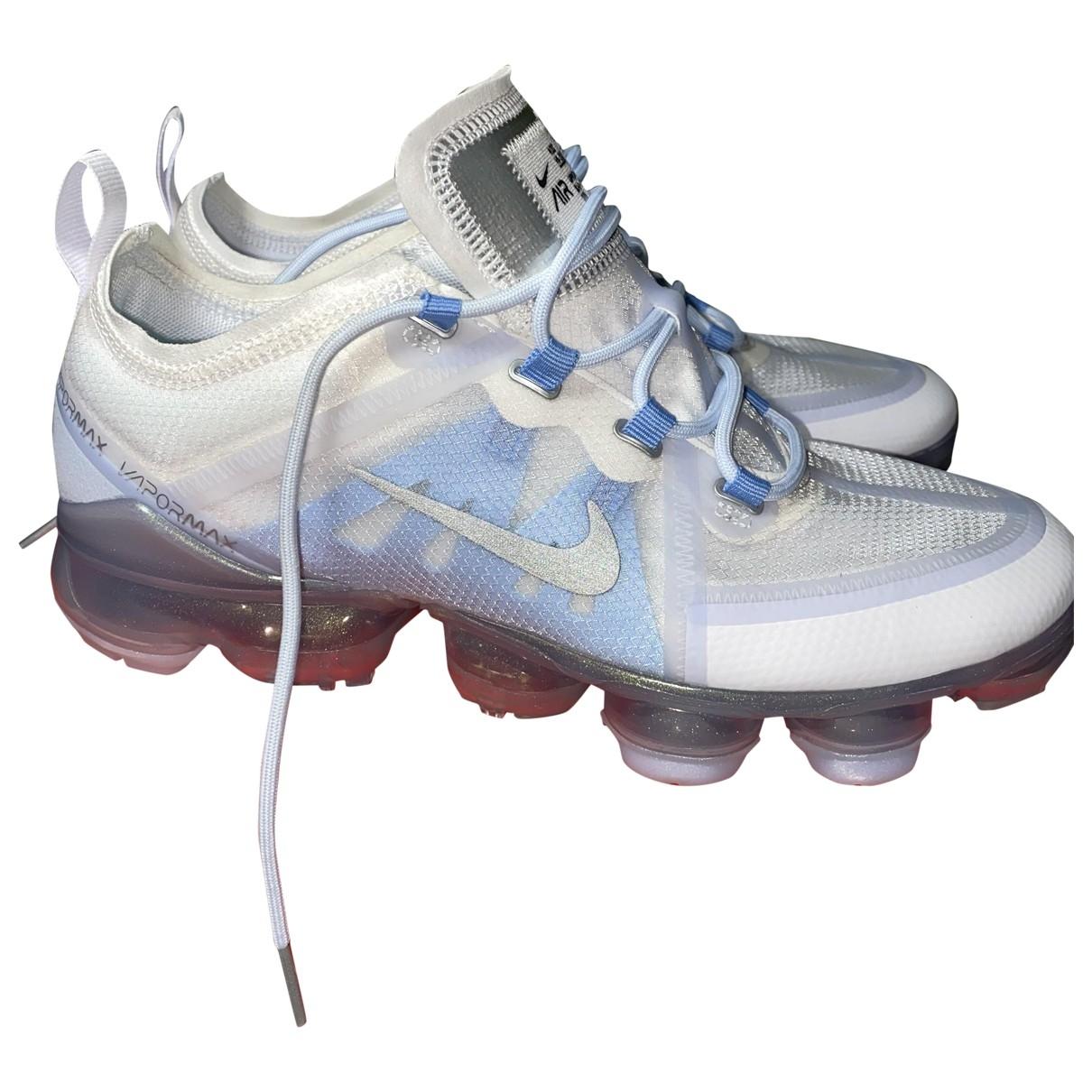 Nike Air VaporMax Sneakers in  Weiss Kunststoff