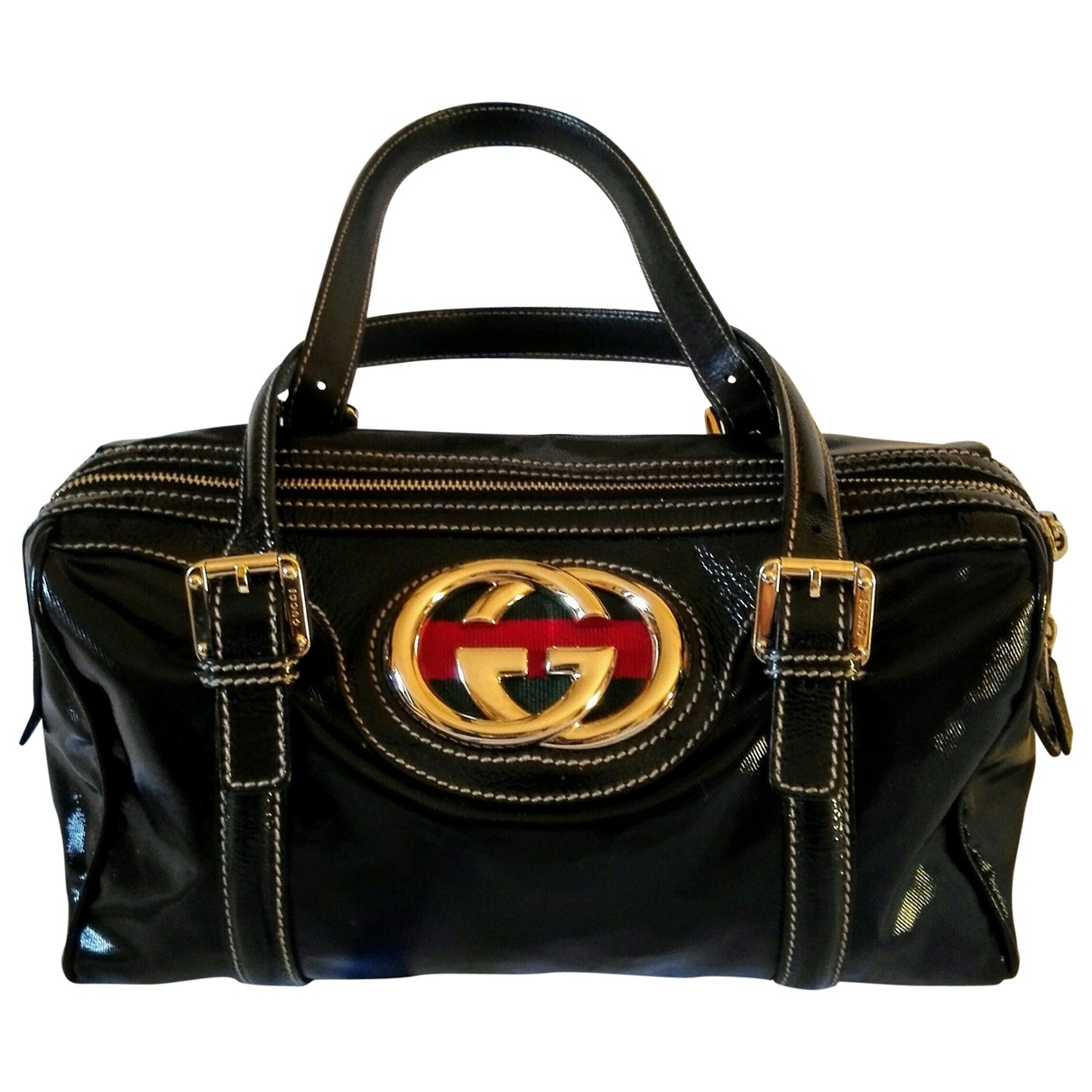Gucci \N Black Patent leather handbag for Women \N