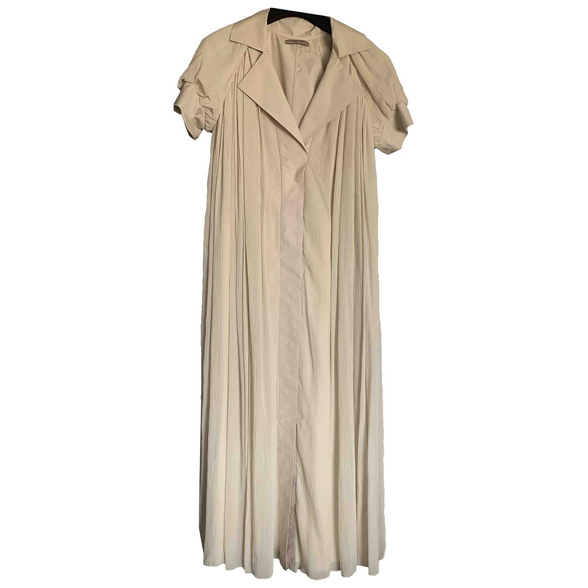 Bottega Veneta \N Kleid in  Beige Baumwolle