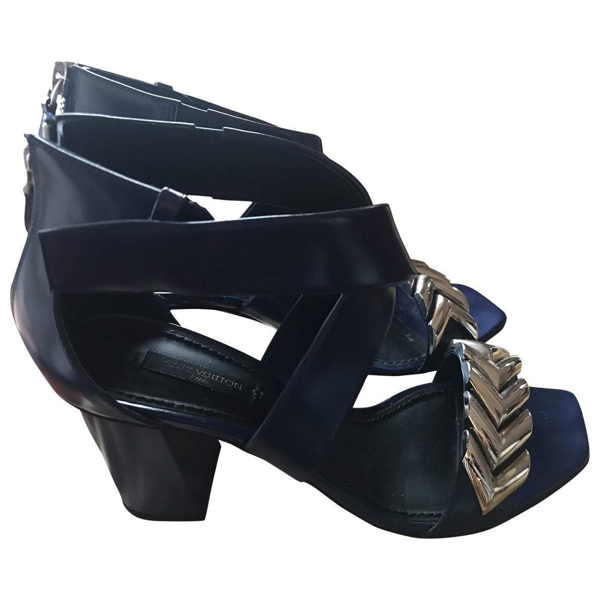 Louis Vuitton - Sandales   pour femme en cuir - bleu
