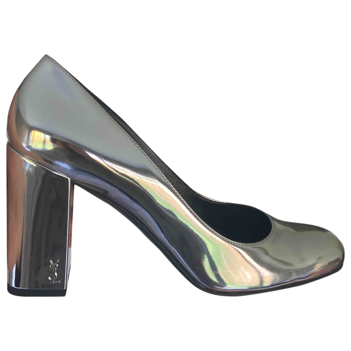 Saint Laurent \N Pumps in  Silber Lackleder